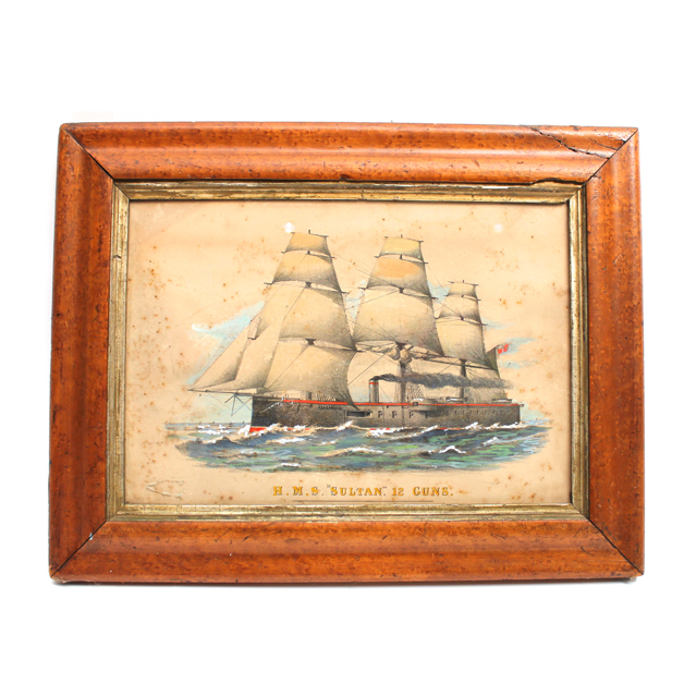 VICTORIAN STEAM SHIP PRINT